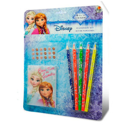 SET PAPELERIA FROZEN 6 PIEZAS CON STICKERS - 19375