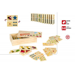 DOMINO MADERA ANIMALES 28 PCS. +24 M - 42147