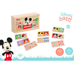 DOMINO MADERA MICKEY & MINNIE 28 PZS. +24M. -48718