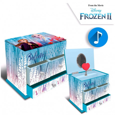 "JOYERO MUSICAL 3 CAJONES ""FROZEN II""- 20765"