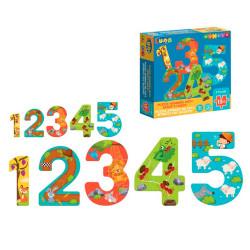PUZZLE NUMERO 1-5 PCS. 15 - 621488