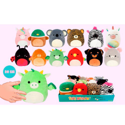 PELUCHES SQUISHMALLOWS 20 CMS EXP. 12 UNIDADES- 20