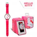 RELOJ HELLO KITTY ANALOGICO CAJA METAL - HK50030