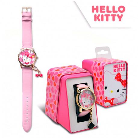 RELOJ HELLO KITTY ANALOGICO CAJA METAL - HK50028