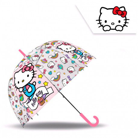 PARAGUAS HELLO KITTY CAMPANA 48 CMS - HK50062