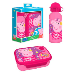 SANWICHERA+BOTELLA ALUMINIO 500 ML PEPPA PIG - 482622