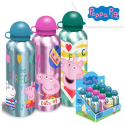 BOTELLA ALUMINIO PEPPA PIG 500ML, SURT-3 - 17040