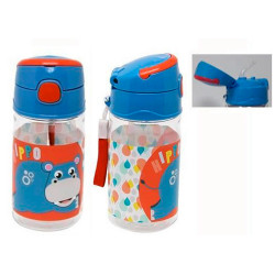 BOTELLA CON CAÑA HIPPO FISHER-PRICE 400 ML - 50204