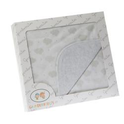 ARRULLO ALGODON 80*80 NUBES GRIS - 10594GR