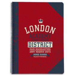 CUADERNO TAPA DURA A4 LONDON- 40022