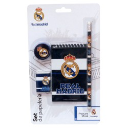 SET PAPELERIA REAL MADRID 4 PIEZAS -GS405RM