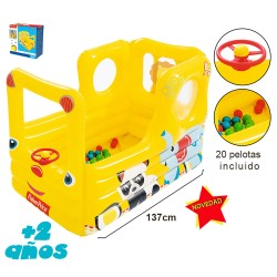 AUTOBÚS HINCHABLE CON 20 PELOTAS DE COLORES FISHER PRICE -005