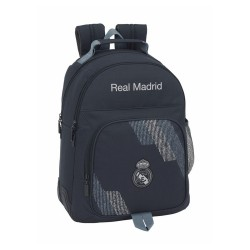 MOCHILA REAL MADRID 42 CM DOBLE CON CANTONERA -RM5312