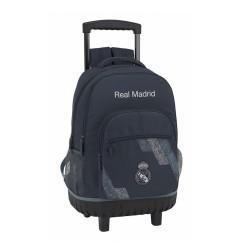 MOCHILA REAL MADRID 43CM CARRO COMPACT-RM5316