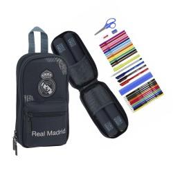 PLUMIER CON 4 PORTATODO RELLENOS REAL MADRID-RM5332